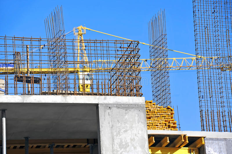 Download Crane And Construction Site Stock Photo - Image: 34998254