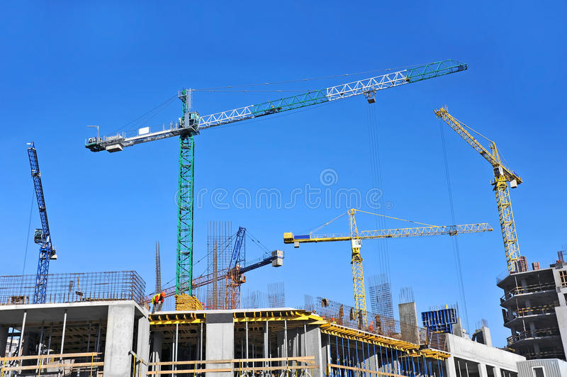 Download Crane And Construction Site Stock Image - Image: 34998339