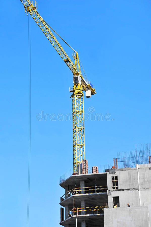 Download Crane And Construction Site Stock Image - Image: 34998497