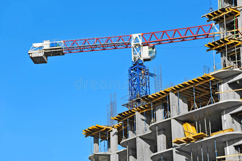 Download Crane And Construction Site Stock Photo - Image: 34998776