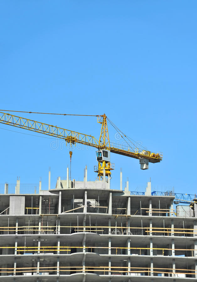 Download Crane And Construction Site Stock Photo - Image: 34999584