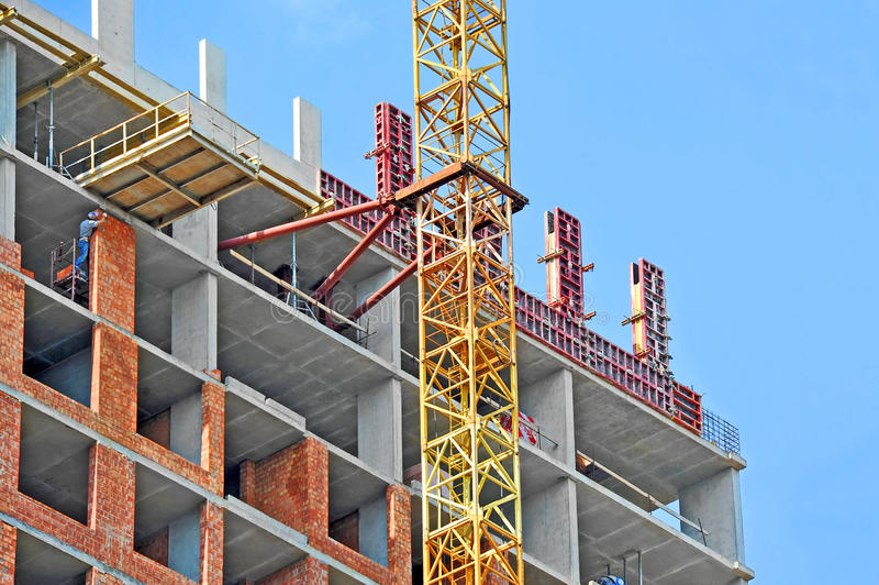 Download Crane And Construction Site Stock Image - Image: 43614051
