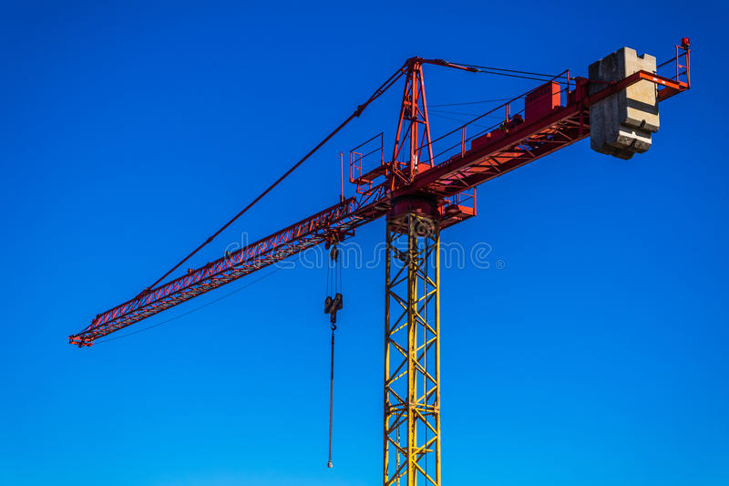 Download Crane On A Construction Site Stock Image - Image of engineering, clouds: 39502567