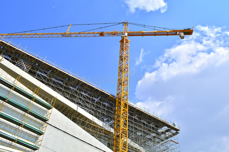 Crane on a construction site royalty free stock photo