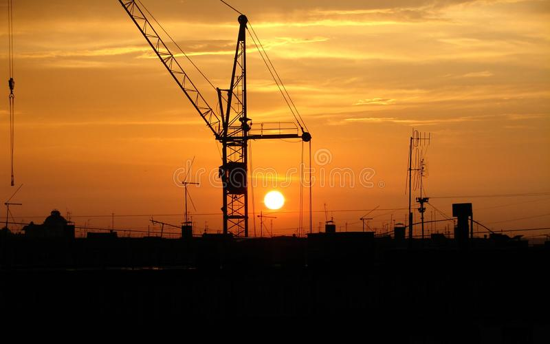 Download The crane and decline stock photo. Image of slings, construction - 8406368