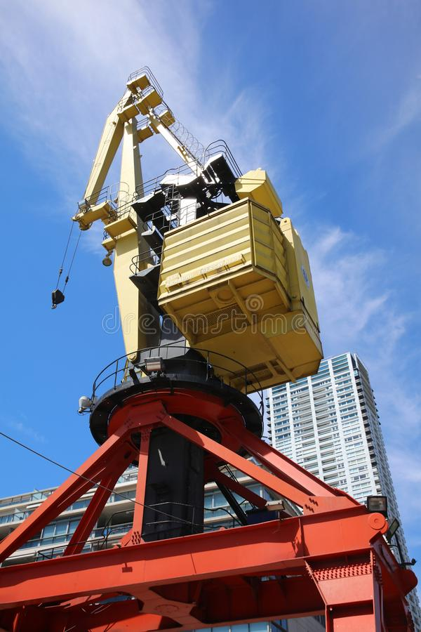 Crane at former Port in Puerto Madero. Buenos Aires. Argentina royalty free stock photos
