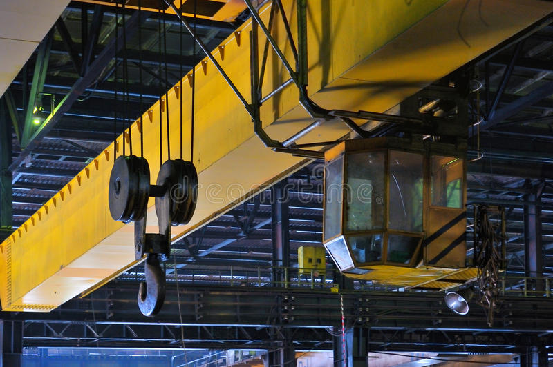 Crane gantry. In steel plant stock photography