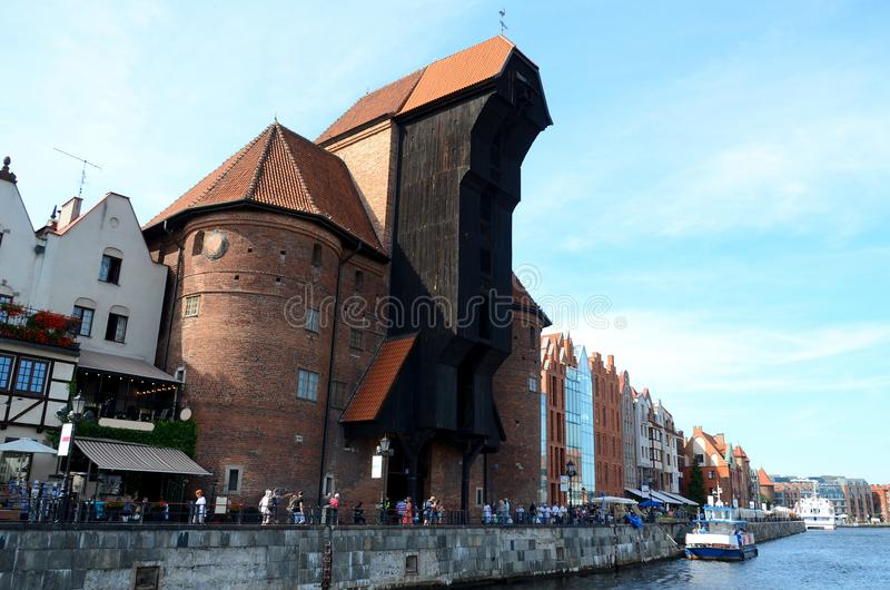 The crane gate in Gdansk stock photography