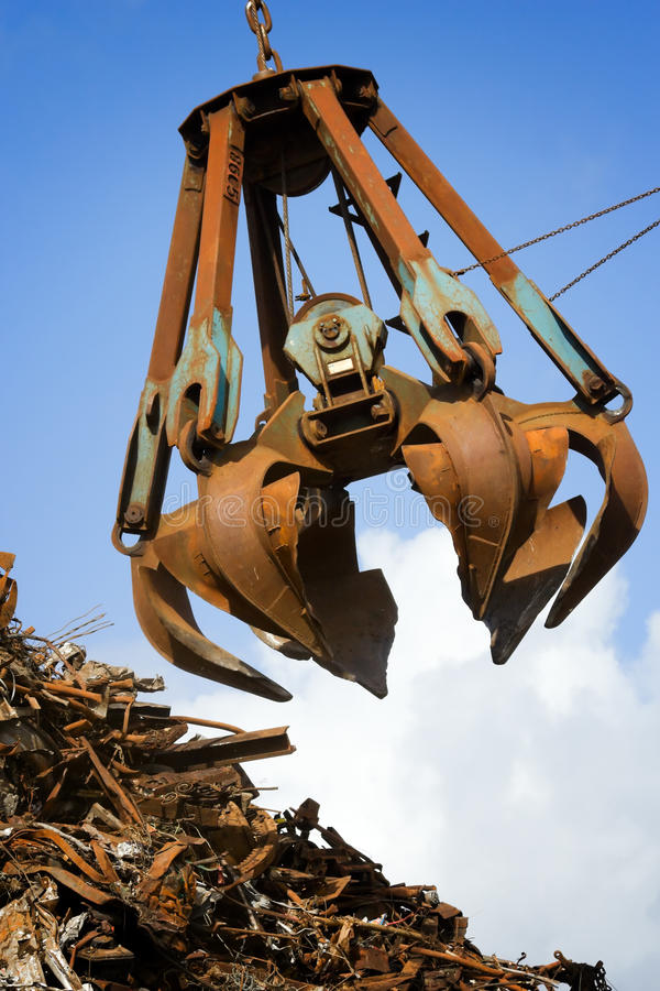Crane grabber stock photo