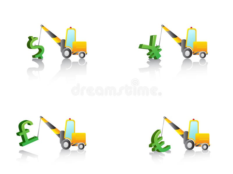 Download Crane Hang With Money Signs Stock Vector - Image: 22272966