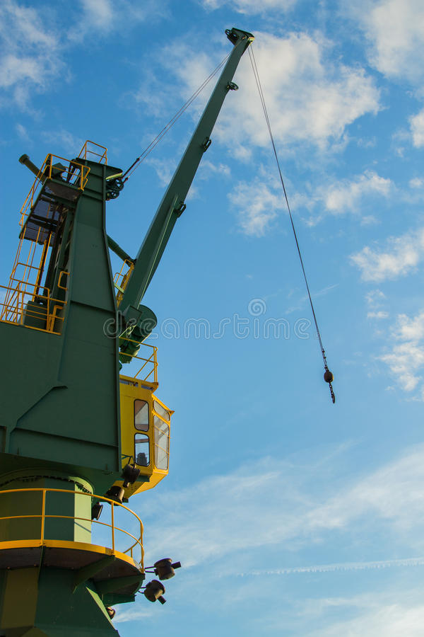 Crane in a harbour royalty free stock images