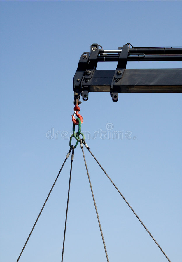 Crane head. Attach your load royalty free stock photo