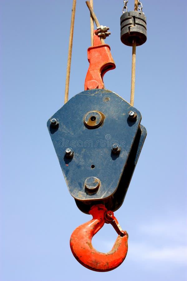 A crane hook stock photos