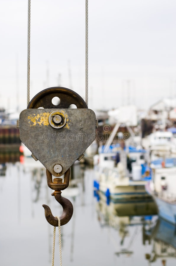 Download Crane Hook stock image. Image of marine, cable, marina - 2034739