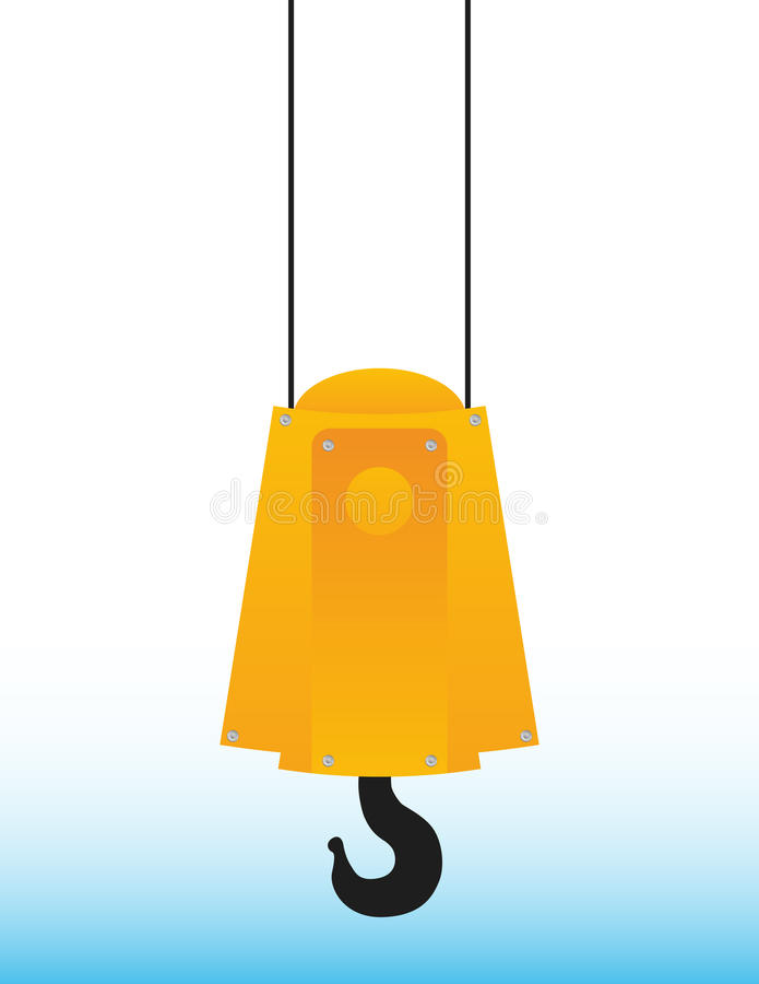 Download Crane hook stock vector. Image of equipment, cargo, metal - 20414884