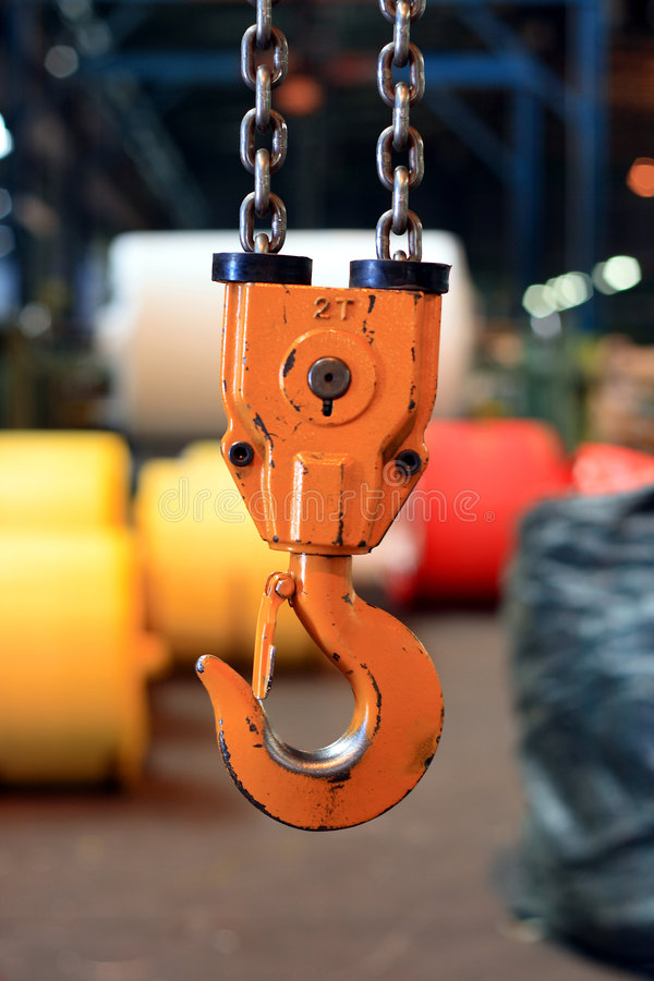 Crane hook stock image