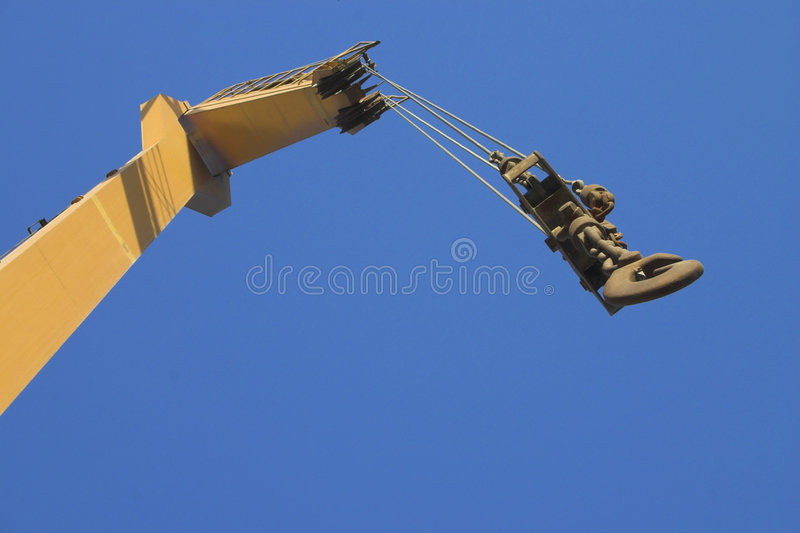 Crane and Hook. And blue sky stock photo