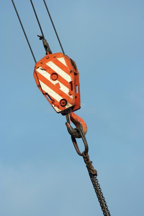 Crane hook stock image