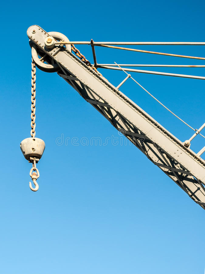 Crane with hook stock images