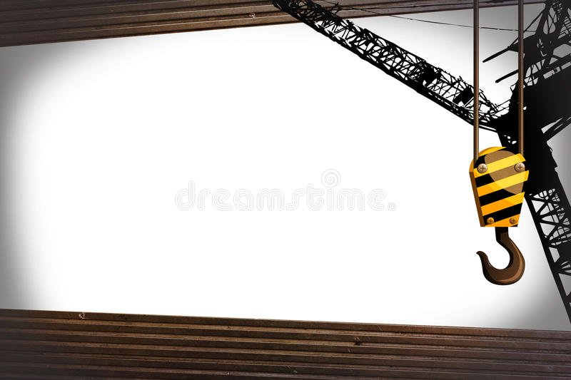 Crane hook template stock illustration. Illustration of board - 29962800