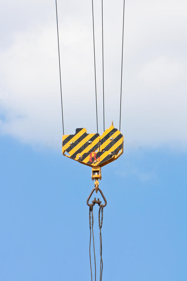Free Crane Hook Over Blue Sky Royalty Free Stock Image - 14456266