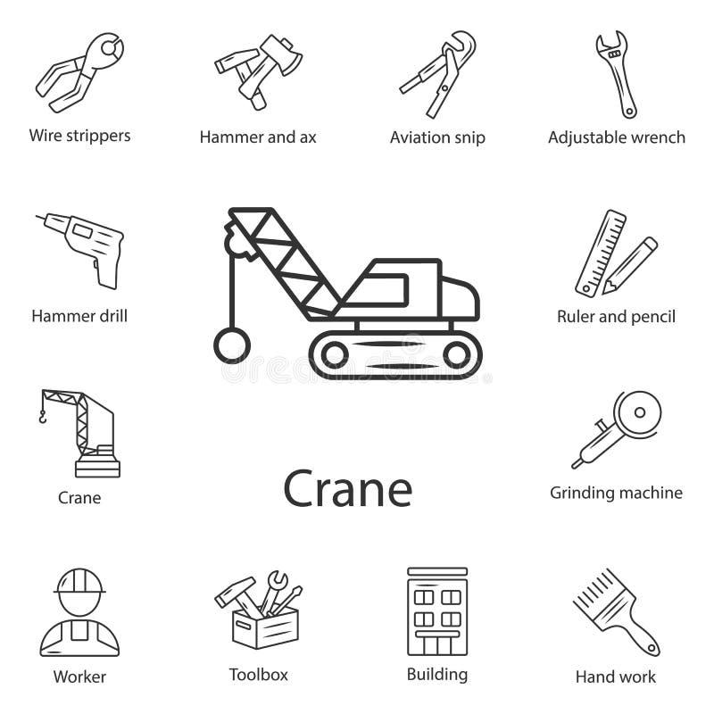 Crane Icon Einfache Elementillustration Kransymboldesign vom Bausammlungssatz Kann für Netz und Mobile verwendet werden lizenzfreie abbildung