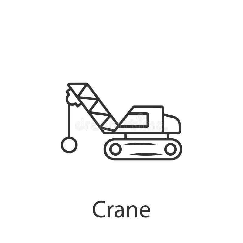 Crane Icon Einfache Elementillustration Kransymboldesign vom Bausammlungssatz Kann im Netz und im Mobile verwendet werden vektor abbildung