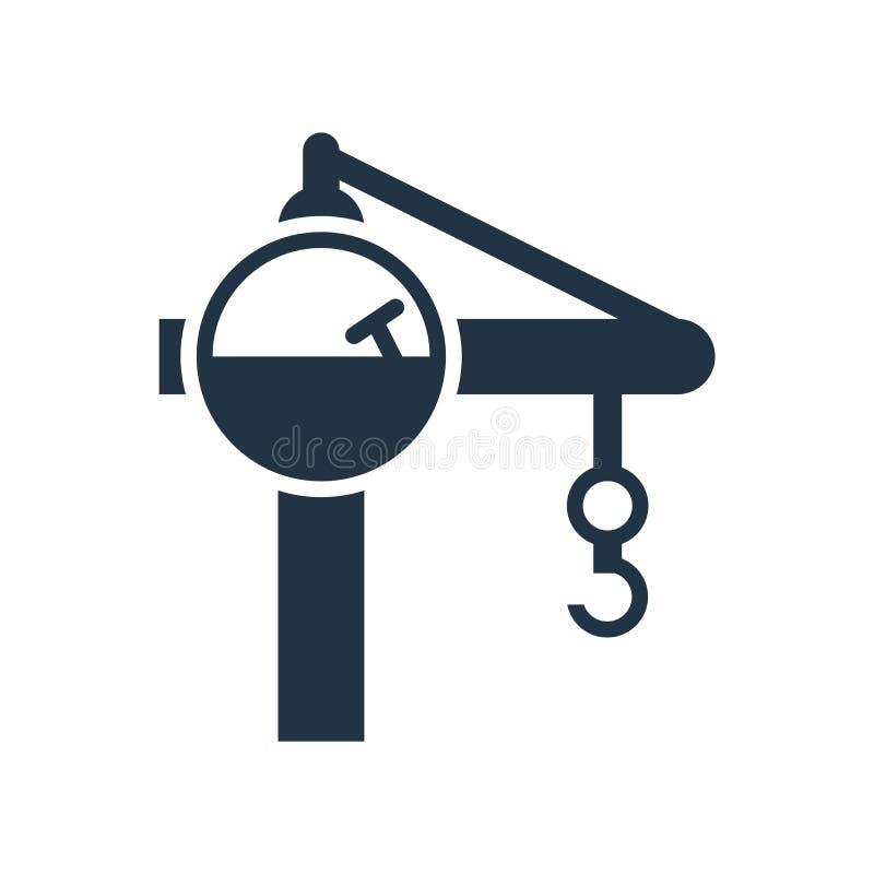 Crane il vettore dell'icona isolato su fondo bianco, segno della gru illustrazione di stock