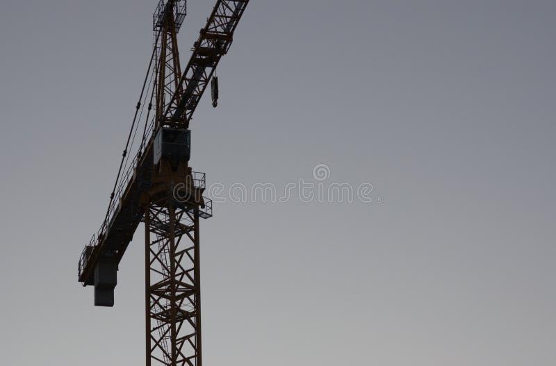 Crane la silueta fotos de archivo
