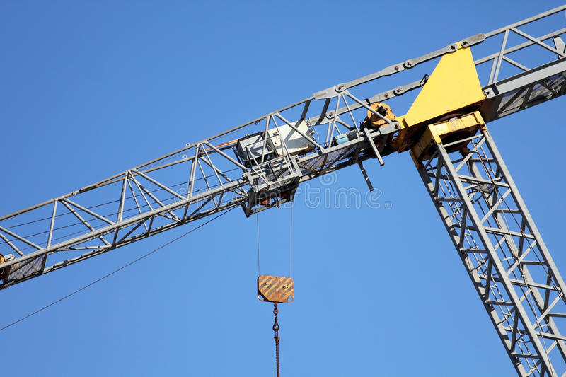 Download Crane Leaning stock photo. Image of hoist, boom, improper - 34208848