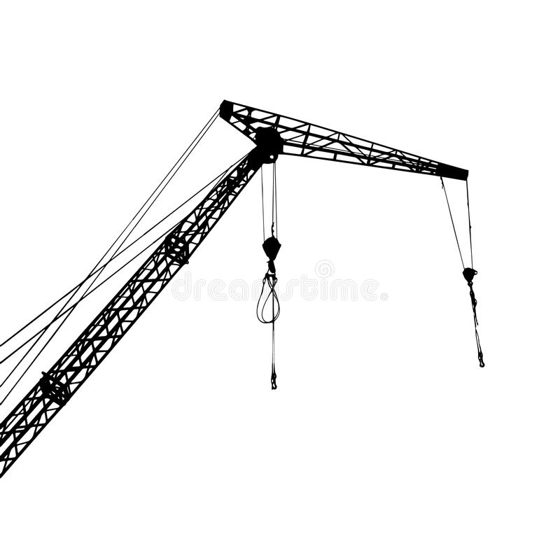 A crane lift and a simple image stock images