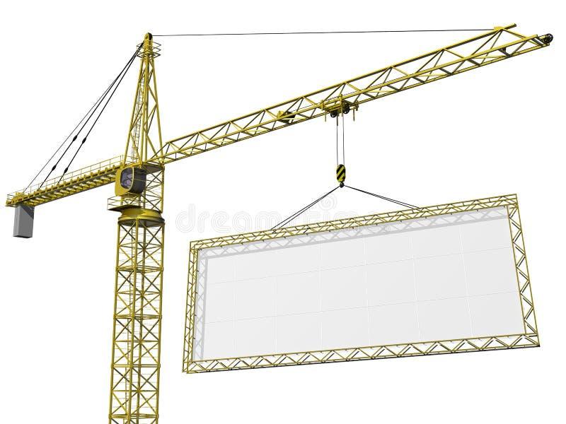 Download Crane lifting blank sign stock illustration. Image of balance - 14056906