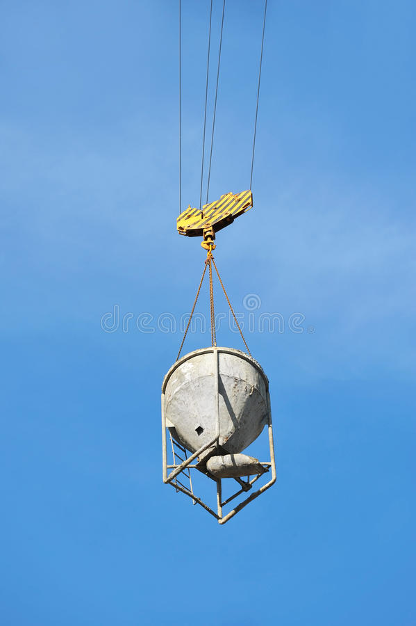 Free Crane Lifting Cement Mixing Container Stock Photography - 38918542