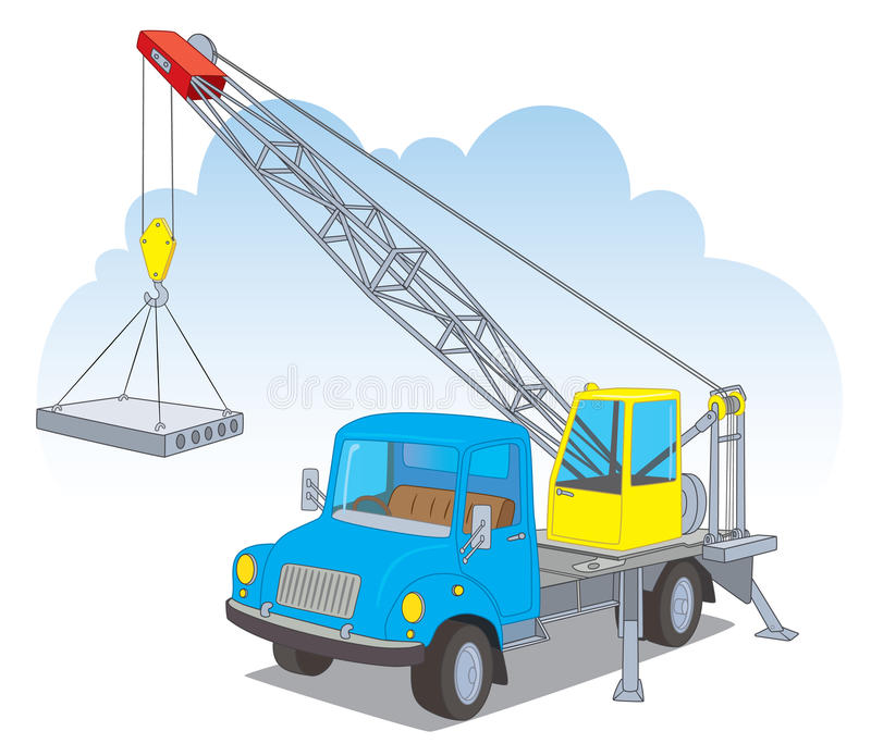 Download A crane with a load stock vector. Illustration of tool - 25484906