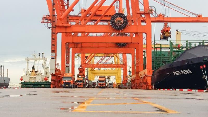 Crane loading bridge stock photos