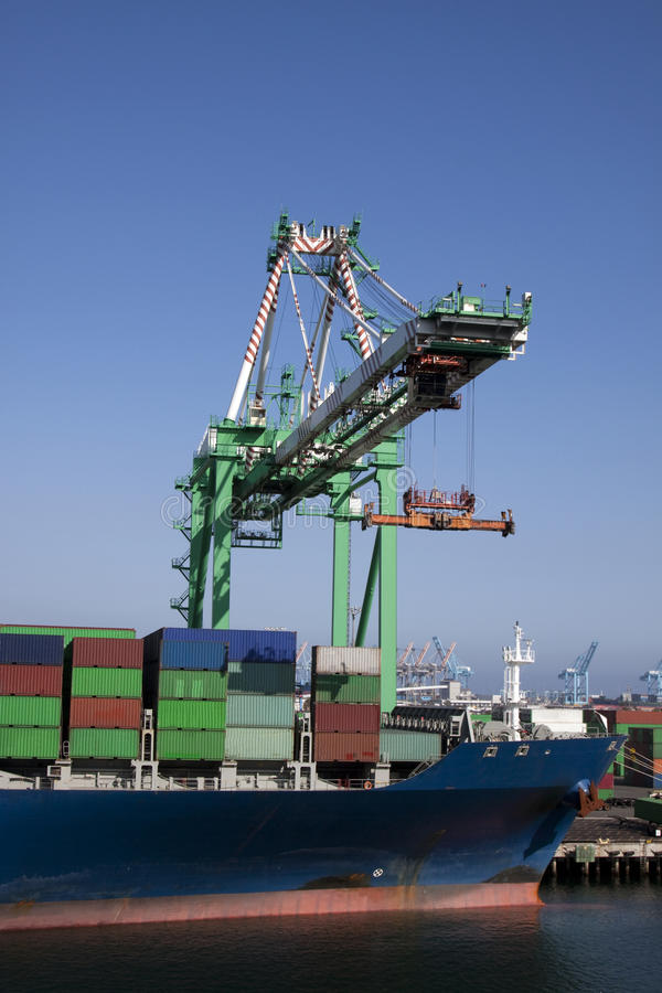 Download Crane loading ship stock image. Image of deliver, shipping - 11200543