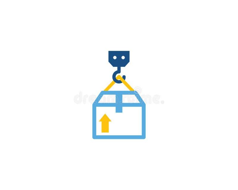 Crane Logistic Logo Icon Design ilustração do vetor