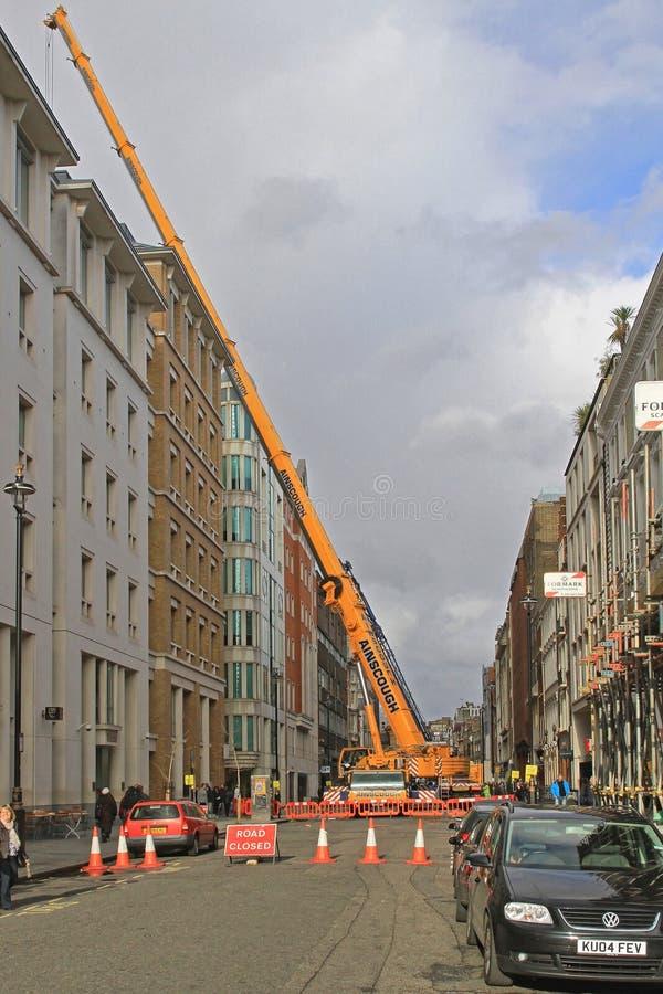 Crane London móvil foto de archivo libre de regalías