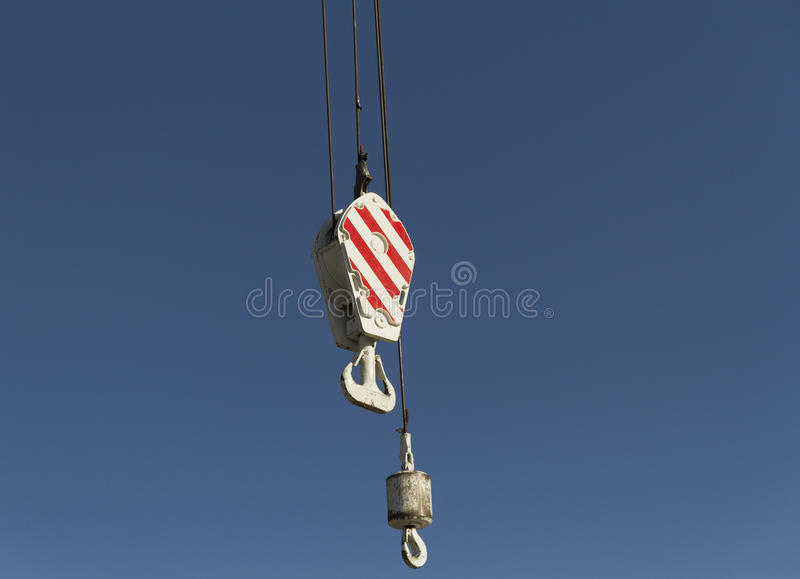 Crane monkey hook. Monkey hook with crane hook stock photos