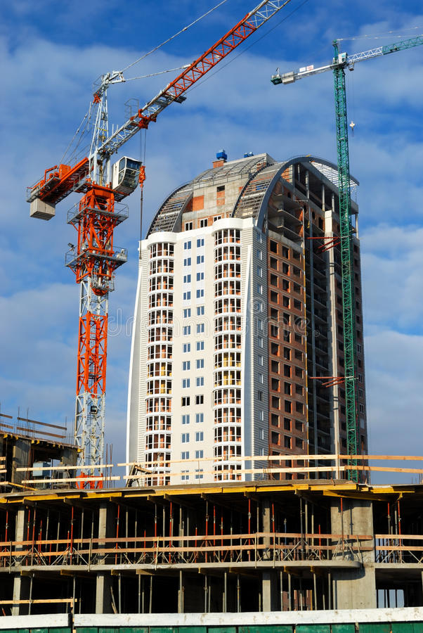 Download Crane and new building stock photo. Image of develop - 18052818