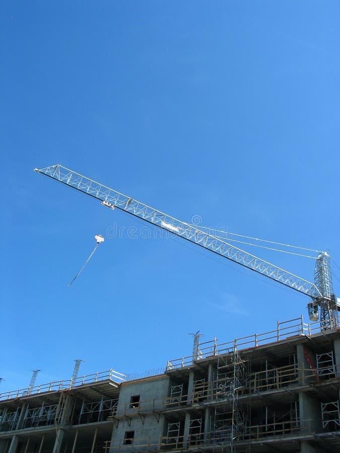 crane nowoczesnego, budynku. fotografia stock