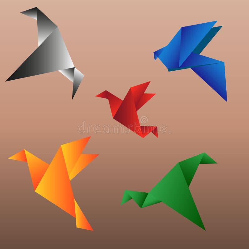 Crane Origami stock images