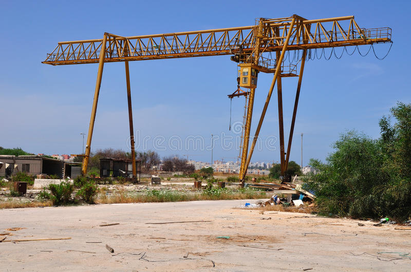 Crane Out Of Use. Royalty Free Stock Photo