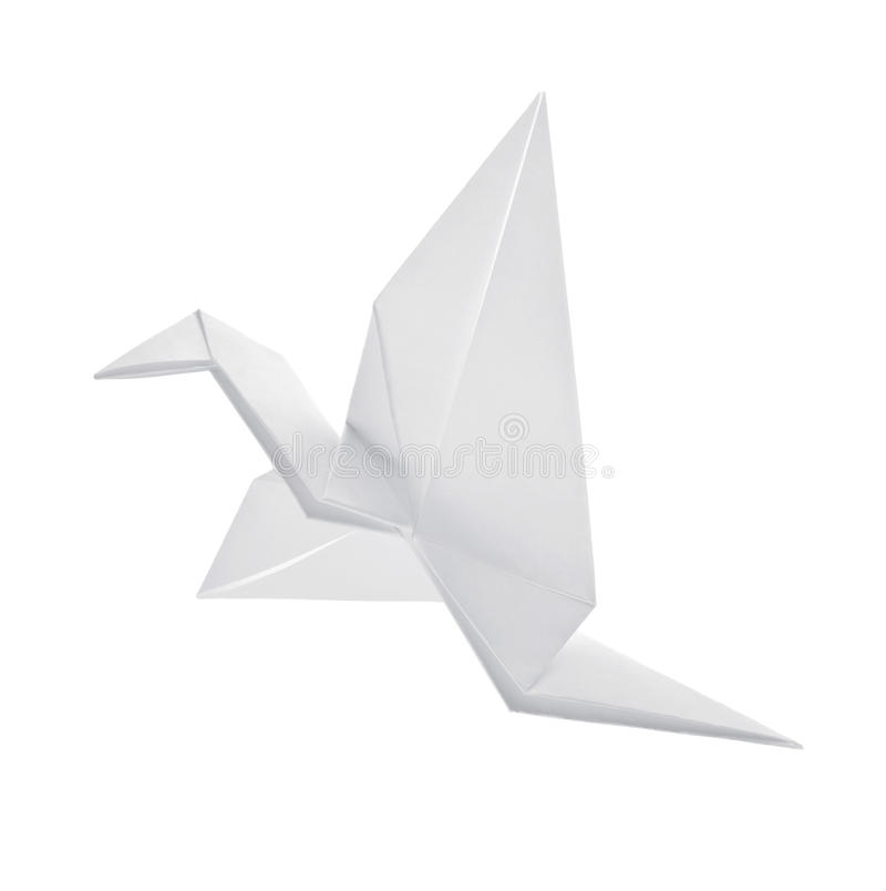 Crane from paper stock photo