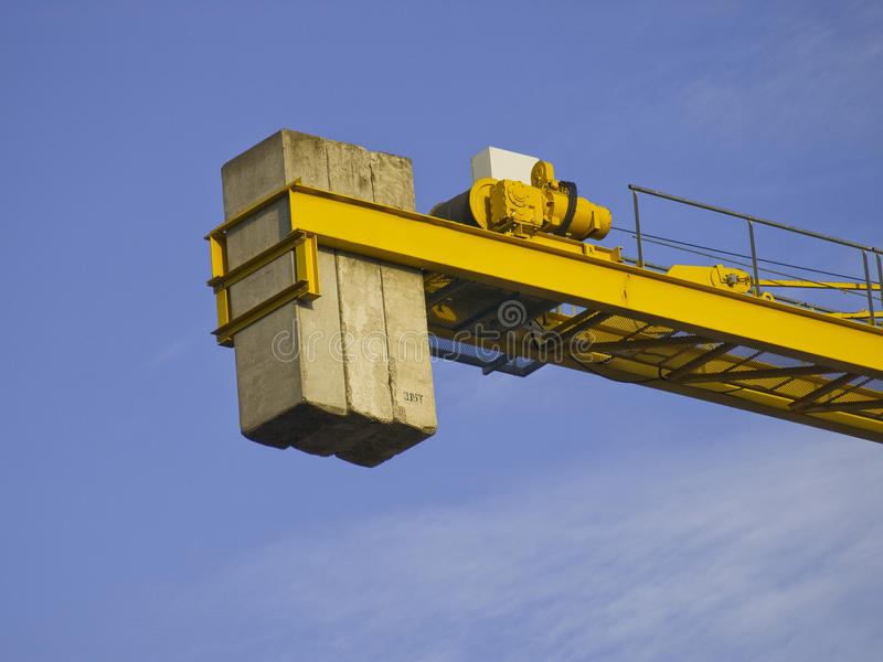 Download Crane part stock photo. Image of side, equipment, blue - 11980196