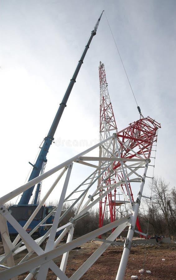crane podwyższone budowlanych ze stali zdjęcia royalty free