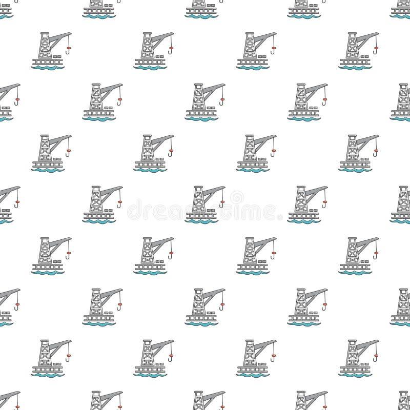 Crane port pattern seamless vector illustration