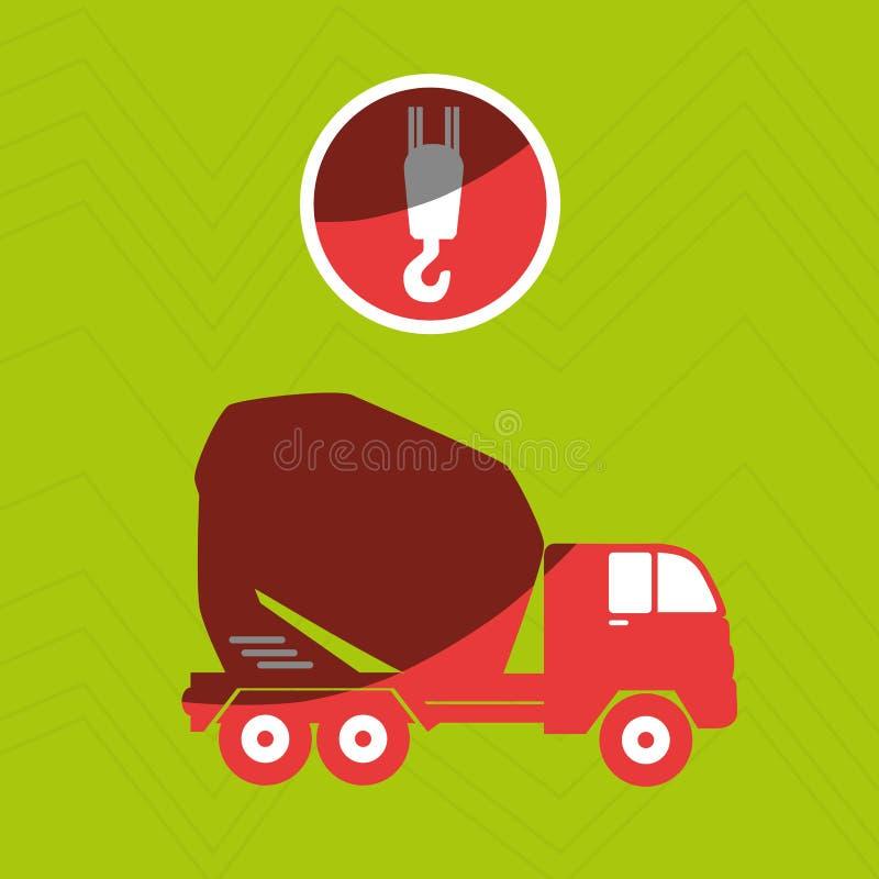Crane service design. Illustration royalty free illustration