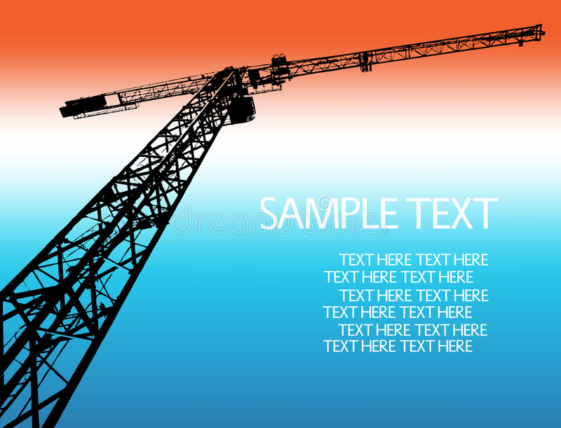 Download Crane Silhouett Royalty Free Stock Photos - Image: 8573358