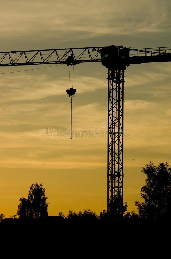 Download Crane silhouette stock image. Image of lift, crane, heavy - 26072875